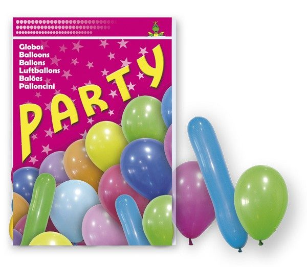 80 GLOBOS PARTY MIX