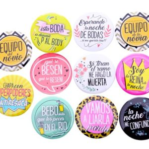 LOTE 11 CHAPAS FRASES WEDDING